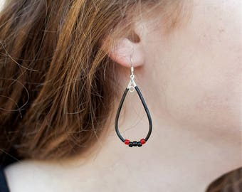 Beaded Teardrop Dangle Earrings - Game Day Gift Ideas - School Spirit Jewelry for Women