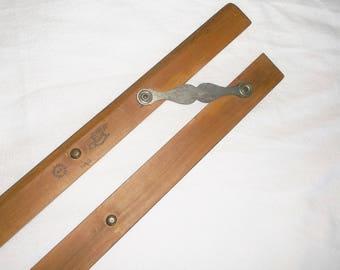 Vintage Wooden KEUFFEL & ESSER Co. Parallel SRAIGHTEDGE