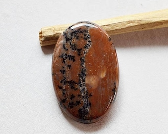 80% Sale Honey Dendritic Cabs Natural gemstone cabochon 52 Cts Oval shape 39x26x6 MM AC1995