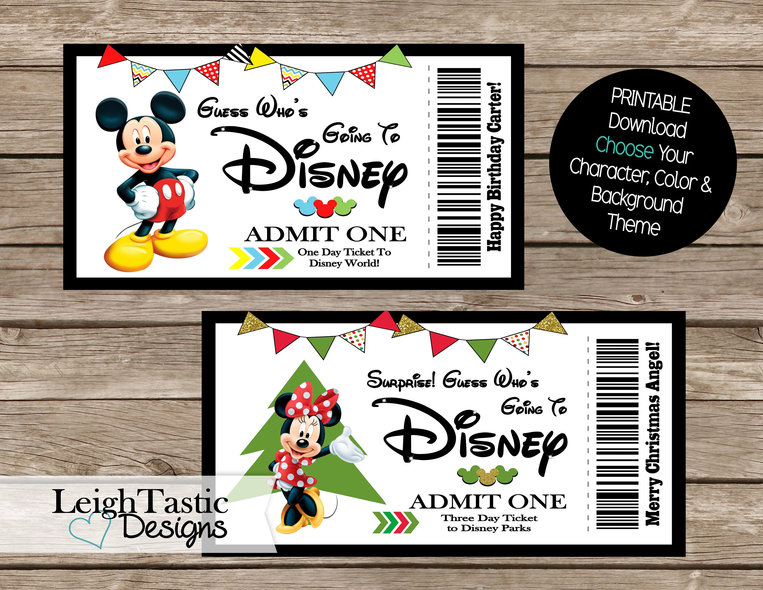 It is a photo of Insane Free Printable Pretend Disney Tickets