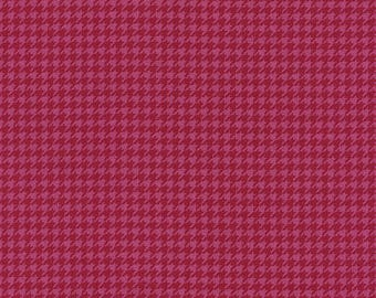 Tribeca - Houndstooth Fabric - Pink - sold by the 1/2 yard