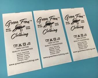 200 Satin printed label, Printing satin tag, Satin fabric tag, Garmentt tags, Satin printing label