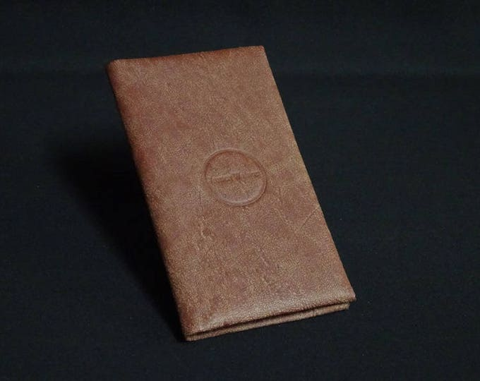 Smartfold6 Phone Wallet - Natural Brown - Fits Apple iPhone 4 5 5S 6 6S 7 - Kangaroo leather with Credit Card Blocking
