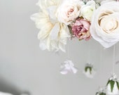 Reserved for Giselle: Small pink floral chandelier pre-order