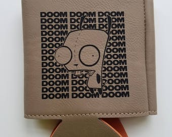Gir Doom Doom Lasered Leather Koozie
