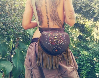 BOLSO-RINONERA skin mandala, hippie, boho, handcrafted and exclusive