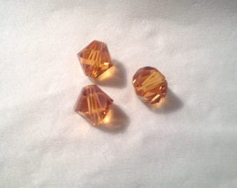 1 Pearl Austrian Crystal light orange 8 mm. -31 014 8mm
