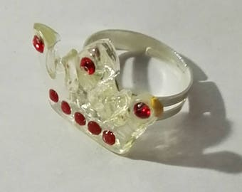 clear Crown with Rhinestone ring