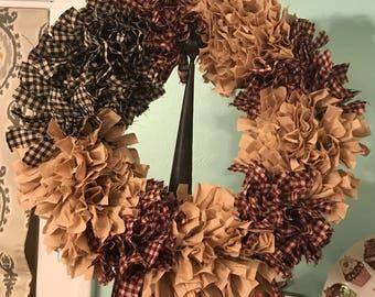 American Flad Rag Wreath