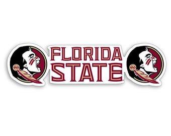 "FSU Florida State Seminoles 6"" Premium Vinyl Die Cut Decal for Car Truck"