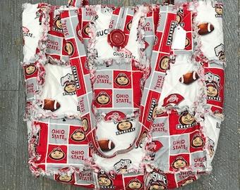 Shoulder Rag Bag Purse Handbag OSU Ohio State Buckeyes
