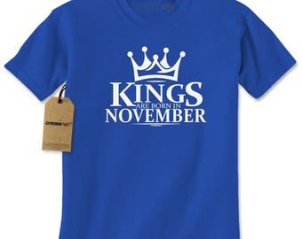 Kings Are Born In November Mens T-shirt
