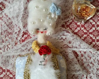 Petite Winter Boudoir Doll with fur