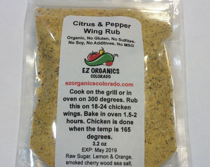NEW Organic Cracked Pepper and Sweet Citrus Wing Rub Must TRY! NEW