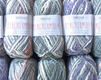 Sirdar Yarns BEACHCOMBER DK Cotton Self Striping Thick and Thin Yarn - Colors 261, 258, 259 - 4.99 +1.25ea Shipping + 2 Patterns. MSRP 5.50