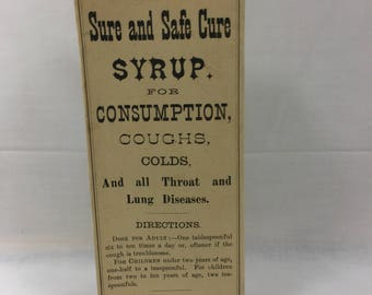 Swayze's Sure and Safe Cure Syrup Box