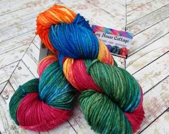 Worsted Superwash Merino , Hand Dyed Yarn 200 yd