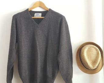 Free shipping, Vintage J PRESS sweater, Wool clothes, Size L