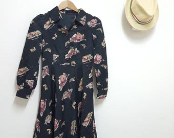 Buy 2 get 1 free,FREE SHIPPING, Vintage dress ,casual dress, black dress ,summer dress , Festival dress
