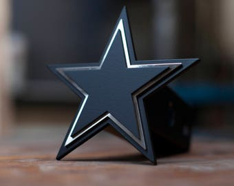 Blacked Out Cowboys Trailer Hitch Cover