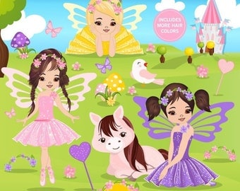 80% OFF SALE Spring fairy clipart, Spring clipart, Girl clipart, Fairytale clip art, Fairy graphics, Commercial use - CA392