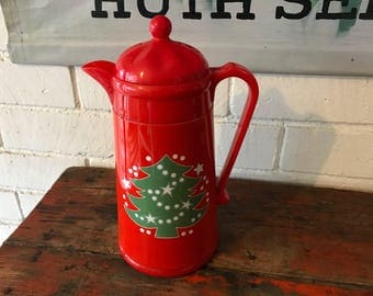 Waechtersbach Christmas Tree Thermal Coffee Insulated Carafe Plastic Thermos