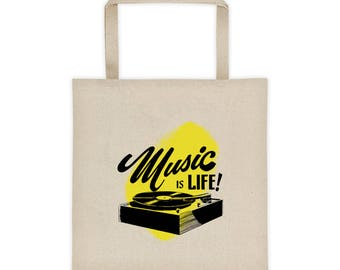 Music is Life! Tote Bag
