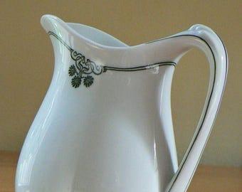 ON SALE Vintage Creamer, H C Selb Bavaria, Vintage Porcelain Creamer, Vintage Pitcher, Art Nouveau Style, German Porcelain, Color Underglaze