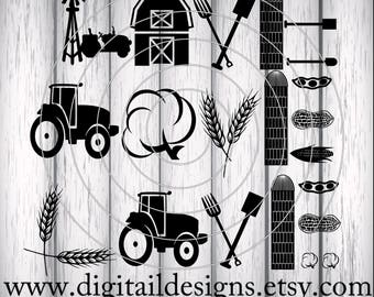 Farming Love SVG - png - dxf - fcm - eps - ai - Cut file - Silhouette - Cricut - Scan n Cut - Farm Love SVG - Farmer SVG - Commercial Use