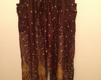 Feather harem pants
