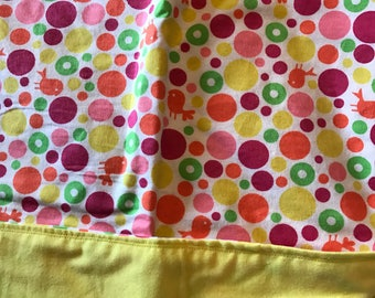 Large flannel recieving blanket, swaddle blanket, nursery, double sided baby blanket