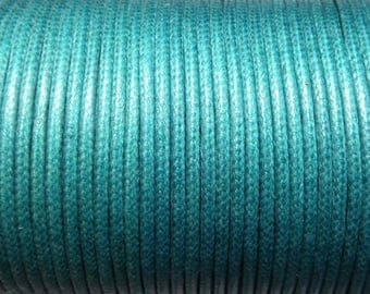 Cotton cord 1 mm turquoise CH04 5 meters