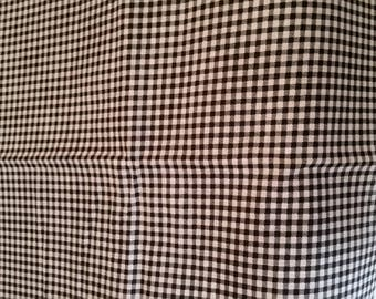 black and white gingham cotton fabric