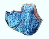 Life Aquatic Plus Size Fit & Flare Midi Skater Dress now on sale