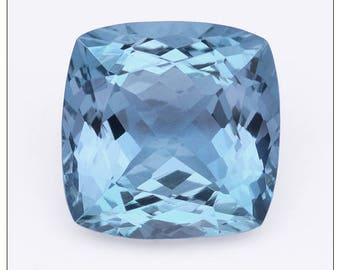 Super 3+ Carat Aquamarine Cut Cushion Shape Gemstone