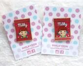 Cute Milky Milk Candy Wrapper Gold Hard Enamel Pin