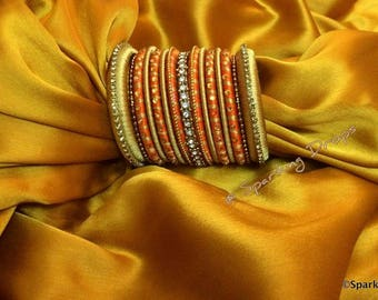 High quality silk thread bangles