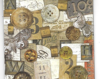 Craft Embellishments. Tim Holtz Idea-ology - Salvage Stickers - one pack