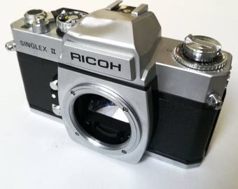 Ricoh Singlex II with New Light Seals. Vintage Ready-To-Use 1970's SLR M42 Mount Camera Body