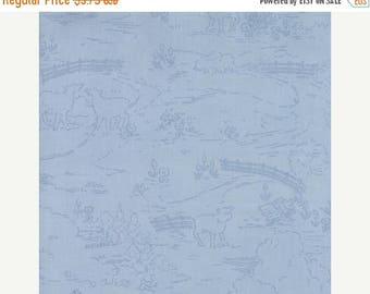 EXTRA 25% OFF Countryside Sky Blue - Ooh La La by Bunny Hill Designs for Moda Fabrics - Toile - 2832 18