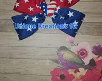 Mickey Mouse 4th of July Bow