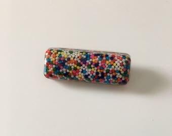Rectangle Resin Pin/Broach // Resin Sprinkle Pin/Broach // Resin Accessories // Candy Pin/Broach