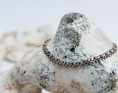 Boho Silver Anklet. Sterling Silver Anklet. Ethnic Silver Anklet. Gypsy Silver Anklet. Tribal Silver Jewellery. Flower Anklet. Handmade. 925