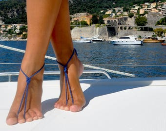 Barefoot Sandals, Crochet Barefoot Sandal, Barefoot Jewelry, Boho Barefoot Sandals, Boho Jewelry, Beach Barefoot Shoes, Gift for Her