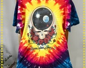 90's Vintage Grateful Dead T shirt, Ex Cond Upcycled Tee, 1992 Deadhead Tee, Size L? Tie Dye Tee, Space Your Face Tee, Gift for Him