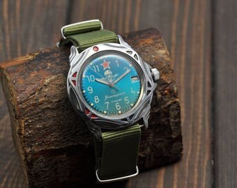 Vintage Watch  Soviet Russian watch Mens watch - Vostok (WOSTOK) Commander Ussr Watch Mechanical Wrist Watch Zakaz MO USSR  Vdv