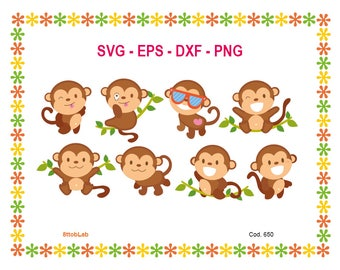 monkey svg files eps dxf png