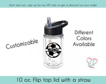 Kids Soccer Water Bottle - 10 oz - Gift for Kids