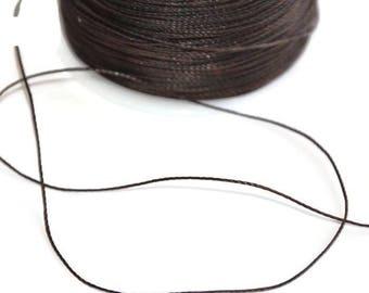 5 m cord 0.5 mm dark brown polyester thread