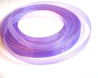 10 m 10mm purple organza Ribbon
